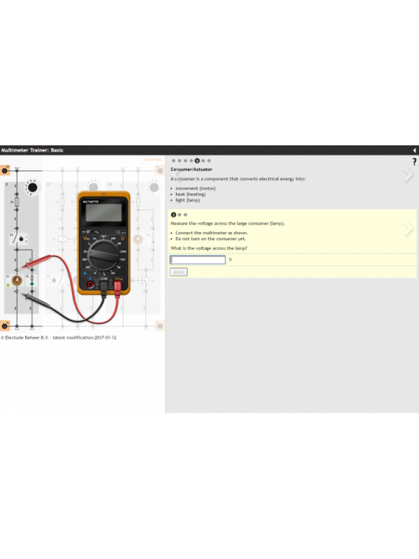Multimeter Trainer with E-Learning