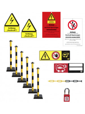 Set of Labelling, Barriers and Locking Systems (German only)